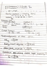 CHEM 122 Fall 2014 Thermodymaics Review Lecture Notes