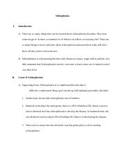 schizophrenia speech outline Family doctor home about links newsletter schizophrenia - an outline for patients and families speech and behaviour preoccupation.