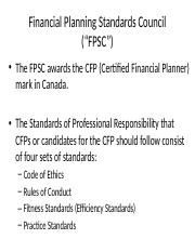 Instructor slides - Financial Planning Standards Council.pptx