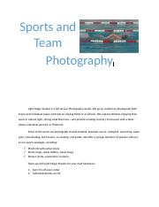 Sports and Team Photography.docx