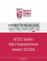 Week 3_Employment Income