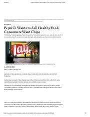 PepsiCo Wants to Sell Healthy Food, Consumers Want Chips - WSJ.pdf