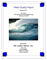 Water Quality Report Title Page
