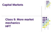 Cap Markets 2014 Class 9 More Settlement  Order Placement Strategy