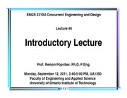 LECTURE 0 Fall 2011
