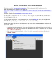 Huong dan mo ebook co file ma hoa DIGITAL ID bang Adobe Reader 9