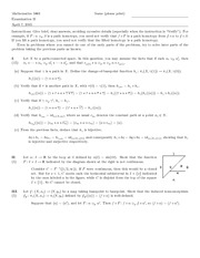 Exam B Spring 2005 Solutions on Topology