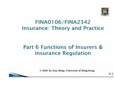 06 Lecture Notes function of insurers
