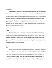 COMM 430 Discussion Essay #2 on Racial and Ethnicity in the Media
