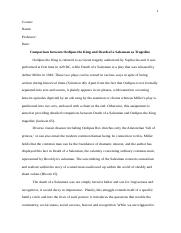 essay Oedipus the King and Death of a Salesman as tragedies.docx