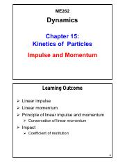 Chapter 15 - Kinetics of Particles-Momentum Method_V01