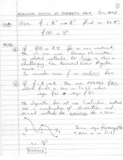 Written notes Nonlinear Equations