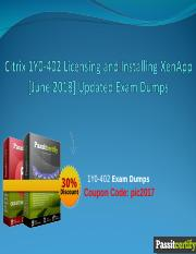 Citrix 1Y0-402 Licensing and Installing XenApp [June 2018] Updated Exam Dumps.ppt