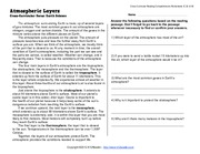 Atmospheric_Layers Reading Passage with Questions