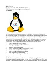 Unit 1 Discussion 2 Networking Services and Systemd.docx