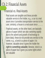 Ch 2 Financial Assets. Besley-Brigham