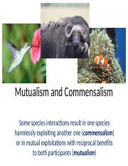 Ch 17 Mutualism and Commensalism