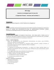 Enseignant - corporate finance - lectures  seminars.pdf