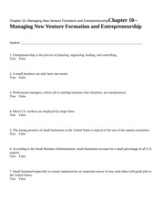 Chapter 10--Managing New Ve