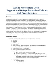 HD-Support And Escalation Policy