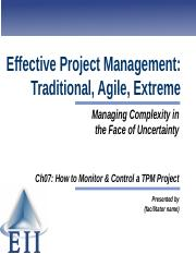 EPM7e Slides Ch07 How to Monitor and Control a TPM Project