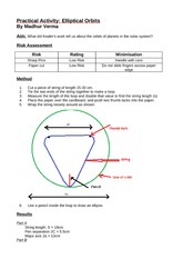 Practical Activity Elliptical Orbits