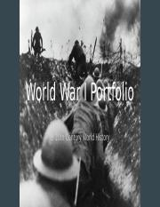 World War I Portfolio