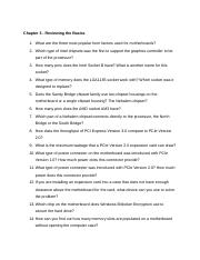 Chapter 3 HW-1.docx - Chapter 3 Reviewing the Basics 1 What are ...