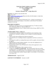 Syllabus - ACC 440 - Fall 2009