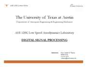 ASE 120L - Digital Signal Processing
