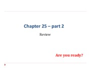 "Chapter 25 â€"" part 2 Review questions0"
