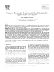 Evaluation of cytokeratin 19 and cytokeratin 20 and interleukin 6 in