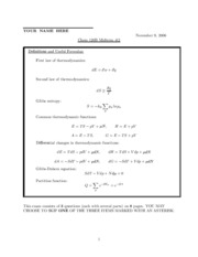 CHEM 120B - Fall 2006 - Geissler - Midterm 2 (solution)