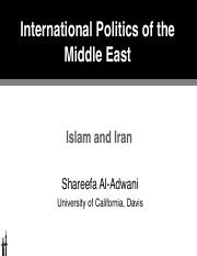7 POL 135 IPME Islam and Iran.pdf