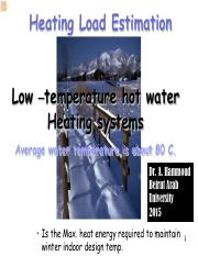 Low temperature heating &Heating load 2015i.pdf