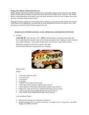 Makanan Internasional Yang Berasal Dari Bahan Hewani Dan Nabati