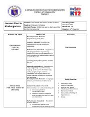A DETAILED LESSON PLAN FOR KINDERGARTEN (2) docx - A