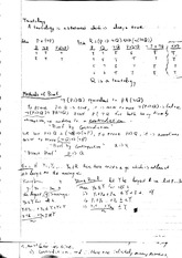 Mathematical Tautology and Proofs Class Note MAT102H5F