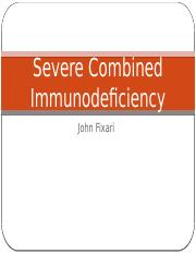 Severe Combined Immunodeficiency Presentation