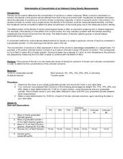 Density determination lab answers