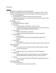 Psych Study Guide - Exam 1.docx