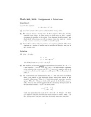 MATH 363 Fall 2006 Assignment 4 Solutions