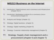Lecture 7 - Supply Chain Mgt and e-Procurement