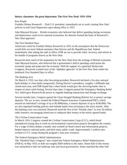 history classnotes the great depression the first new deal