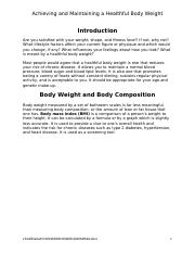 HSM 138 -  Achieving and Maintaining a Healthful Body Weight .docx