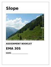 Slope -  Assignment Booklet
