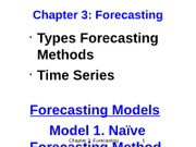 Chapter 3 - Forecasting