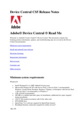Device Central CS5 Read Me (GB)