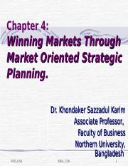 Chapter 4_Winning Markets Through Market Oriented Strategic Planning_Executive MBA_Final