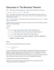 Course Hero - Math for Liberal Arts - Binomial Theorem Exercise.docx